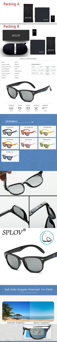 2017 Fashion TR90 Polarized Boys Sunglasses Girls Brand Designer Lens Sun Glasses TAC Gafas De Sol Safety Baby Kids Sunglasses
