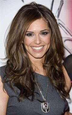 Perfect medium brown hair color, beautiful make-up too!