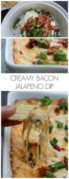 Creamy Bacon Jalapeno Dip #ad #BigGameSnacks @Walmart