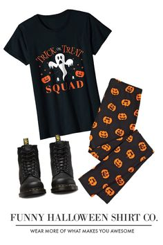 99955ef5 Trick or Treat Squad Ghost and Pumpkin Halloween T-Shirt #Halloween  #TrickOrTreat #Squad #October #Mom #Dad #Pumpkin #Ghost #Spider #Fall #Funny  #Family ...