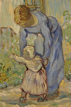 Vincent van Gogh,  First Steps ( detail ). on ArtStack #vincent-van-gogh #art