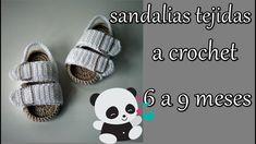 Children and Young Booties Crochet, Crochet Baby Shoes, Crochet Baby Clothes, Crochet Slippers, Knit Crochet, Baby Shower Labels, Baby Slippers, Baby Boots, Crochet Videos