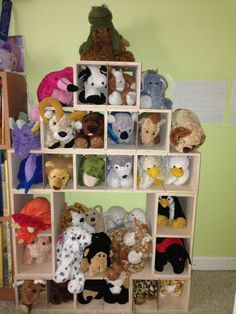 Stuffed Animal Hotel #storage #organize
