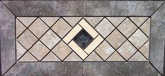 "21 5/8"" X 10 1/16"" Daltile Continental Slate, Sandalo & Cliff Pointe Tile Medallion Mosaic with Metal Accent - - Amazon.com"