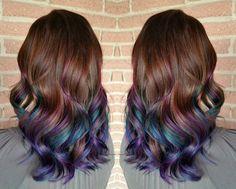 Good news! Brunettes can still get in on the rainbow hair trend http://trib.al/E6Fm3vI @auracolorist