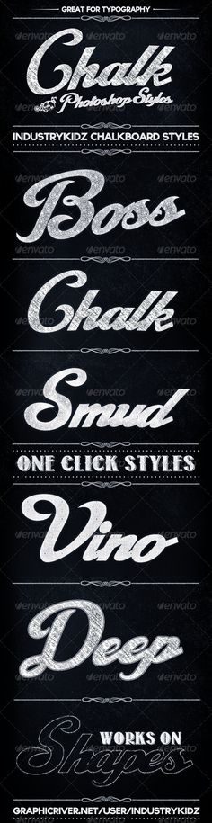 Source for elements of all kinds... Chalkboard Photoshop Layer Styles - GraphicRiver Item for Sale