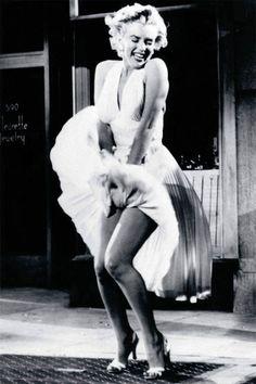 Marilyn Monroe White Dress Celebrity Poster by Sam Shaw