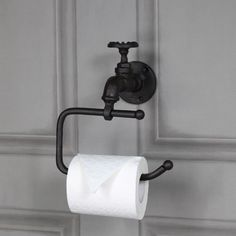 Rustic bathroom toilet paper holder details about rustic metal toilet roll tissue holder retro industrial bathroom Industrial Bathroom Accessories, Bathroom Toilet Paper Holders, Toilette Design, Wall Mounted Toilet, Bathroom Toilets, Bathroom Plants, Bathroom Colors, Gold Bathroom, Bath Design