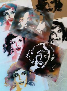 Art by Borogoges. Deze stencils spreken mij aan omdat het 2 verschillende stencils zijn maar wel van dezelfde vrouw. Een moet namelijk haar schaduw voorstellen en de ander haar haar en wat andere delen. Ik vind dat de stencils er erg mooi zijn uitgekomen.