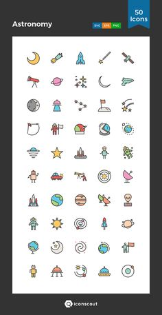 Astronomy  Icon Pack - 50 Filled Outline Icons Hand Doodles, Cute Doodles, Bullet Journal Art, Bullet Journal Ideas Pages, Mini Drawings, Easy Drawings, Planet Icon, Planet Drawing, Iphone Wallpaper Tumblr Aesthetic