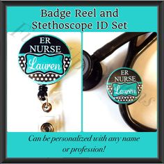 Set of Personalized ER Nurse Stethoscope ID Tag and by FinnzUp, $15.00
