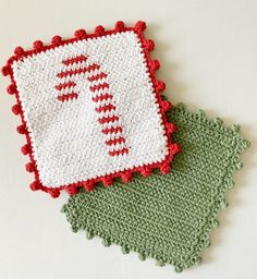 Crochet Vest Pattern, Dishcloth Knitting Patterns, Crochet Christmas Trees, Christmas Crafts, Xmas, Modern Crochet Patterns, Crochet Borders, Crochet Hot Pads, Farm Crafts