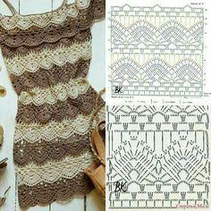 New knitting patterns free skirt baby dresses Ideas Crochet Bikini Pattern, Crochet Diagram, Crochet Chart, Crochet Stitches, Crochet Skirts, Crochet Clothes, Crochet Lace, Doilies Crochet, Crochet Tops