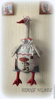 Кухня ручной работы. Ярмарка Мастеров - ручная работа. Купить Красная Шапочка пакетница. Handmade. Гусь, натуральные материалы, хлопок