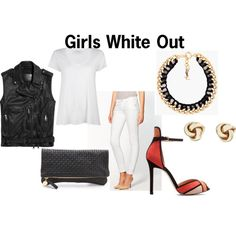 """Girls White Out"" by thirtysomethingfashion on Polyvore"