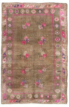 vintage oushak rug 13506 | Woven Online