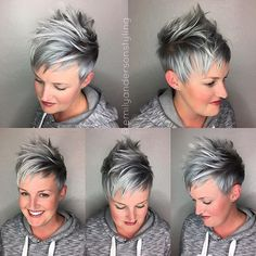 This babe came in for a cut only. Her last color was the denim blue pixie using the @kenraprofessional silver metallics and boom look how beautiful it faded after 6 weeks. And her pixie was giving me life with that mini fringe with a longer overlay. #emilyandersonstyling #uberliss #kenraprofessional #nothingbutpixies