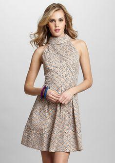 JESSICA SIMPSON Sleeveless Folded Collar Dress