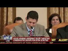 IRS Hearings - Paul Ryan Nails it !!!!!     Watch: Gallery Erupts During IRS Hearing After Paul Ryan Calls out a Dem Rep.