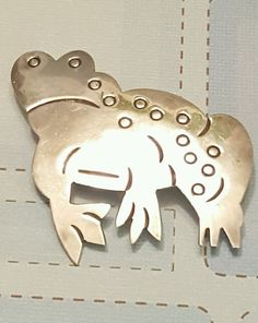 Sterling Silver Frog Pin Brooch Mexico Marked TN-61  | eBay