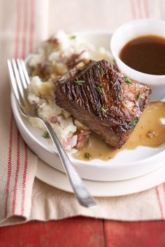 Pair this slow cooker Beer-Braised Beef Short Ribs recipe on top of a scoop of mashed potatoes or a slice of toast to soak up all of the amazing savory sauce. Crock Pot Slow Cooker, Crock Pot Cooking, Slow Cooker Recipes, Crockpot Recipes, Braised Beef Short Ribs Recipe, Meat Recipes, Cooking Recipes, Lamb Recipes, Recipies