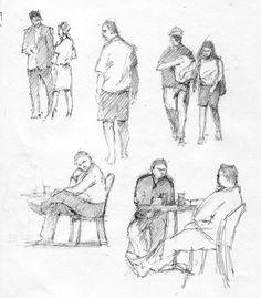 figure sketches pencil - Google Search