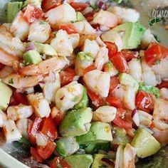 Lime Shrimp Avocado Salad - Hearty... yet healthy :)