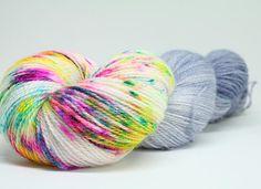 Merino/bamboo lace weight, Mums Are Like Dads But Smarter, 100g #handdyedyarn #yarn #knitting #crochet