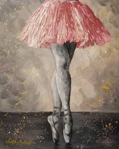 FREE Acrylic Painting Tutorial Ballerina Palette Knife Techniques by Angela Anderson on YouTube #blackandwhite #ballet #ballerina #painting #art #nutcrackerballet