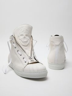 Alexander McQueen men's leather high top sneaker