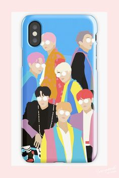 Bts - idol phone case for iphone and samsung galaxy Korean Phone Cases, Korean Phones, Kpop Phone Cases, Diy Phone Case, Iphone Phone Cases, Phone Covers, Korean Painting, Bts Merch, Phone Gadgets