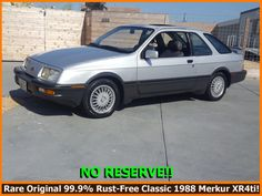 THE OVERVIEW Offered for an appreciating new owner is this rare classic 1988 MERKUR HATCHBACK! Finished in silver over grey, this very rare German-built Merkur shows j Ford Sierra, Rust Free, California, Classic, Derby, The California, Classical Music