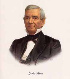 John Ross, the famous Cherokee chief, owned 100 African slaves in the early 1800s. Cherokees were valuable allies of American slaveholders from at least the Yamasee War (1714) through the U.S. Civil War, when the Cherokees sided with the confederacy. Hand-colored lithograph from the McKenney-Hall History of the Indian tribes of North America (1858), after an 1825 painting by Charles Bird King.