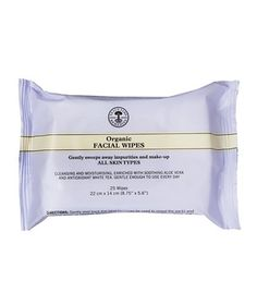6 Great Green Beauty Products - Neal's Yard Remedies Organic Facial Wipes: Infused with lavender and chamomile extracts to remove makeup without stripping the skin, these superbly soft cloths are Leaping Bunny–certified and 100 percent biodegradable, so you can clean your face with a clear conscience.