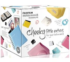 FUJIFILM Instax Accessory Kit - If I ever buy the camera I need to remember this! Instax Mini 8 Camera, Fujifilm Instax Mini 8, Fuji Instax, Polaroid Instax, Polaroid Cameras, Instax Wide, Instax Accessories, Gopro, Cheap Cameras