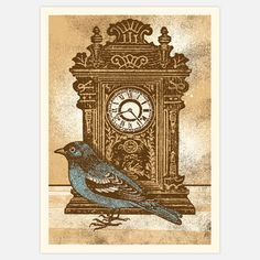 Time Art Print by Justin Helton of Status Serigraph. Silkscreened by hand on 100 pound stock. now featured on Fab.