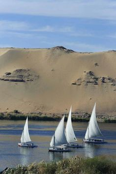 Taking a cruise on the Nile is a time-honored way to explore Egypt. Experience heavenly pleasures of a Nile journey! There are 3 types of itineraries for Nile cruises. Egypt Travel, Africa Travel, Luxor, Places To Travel, Places To See, Wonderful Places, Beautiful Places, Travel Around The World, Deserts
