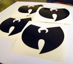 4ct WuTang Vinyl Decals by zdeville on Etsy, $3.99
