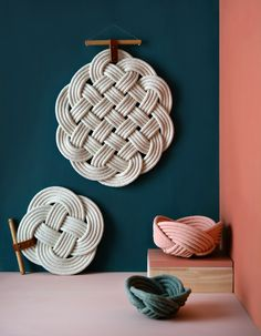 Wall hangings and weave bowls by Crayon Chick.  Styled and photo by Lisa Tilse of We Are Scout.  Available at www.crayonchick.com.au