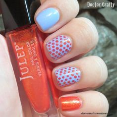blue orange dotticure essie julep bikini so teeny kirti