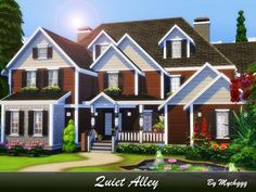 Quiet Alley house by MychQQQ for The Sims 4