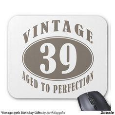 Vintage 39th Birthday Gifts