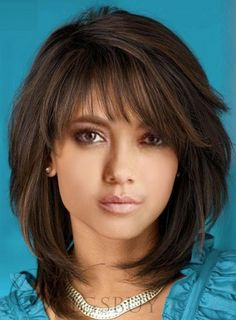 Medium Hairstyles Womens Natural Straight Human Hair Wigs Lace Front Wigs Long Hair Styles With Layers Front Hair Hairstyles Human Lace Medium natural Straight Wigs Womens Medium Hair Styles For Women, Medium Hair Cuts, Short Hair Cuts, Hair Layers Medium, Medium Layered Bobs, Women Hair Cuts, Medium Hair Length Styles, Shoulder Length Hair Cuts With Bangs, Hairstyles For Medium Length Hair With Layers
