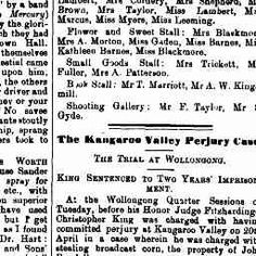 23 Sep 1899 - The Kangaroo Valley Perjury Case. THE TRIAL AT W...