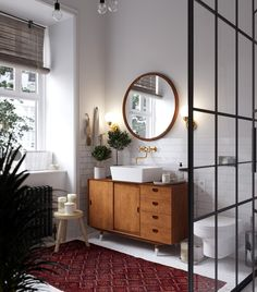 Modern bathroom design 296463587966211893 - Un appartement slave au style vintage – PLANETE DECO a homes world Source by lillyrosed Scandinavian Style Interior, Bathroom Interior, Apartment Decor, Home Remodeling, Bathroom Decor, Interior, Bathroom Design, Home Decor Styles, Home Decor