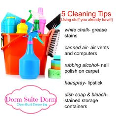 Dorm Room Cleaning Tips