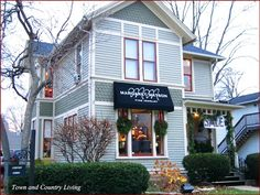 Geneva, Illinois~love stores in old Victorian homes