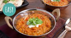 The thought of this incredibly delicious, creamy Indian Dhal will get you through the day! Indian Dhal Recipe, Lentils And Quinoa, Brown Lentils, Curry Powder, Meal Planner, Naan, Winter Food, Original Recipe, Yogurt
