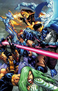 X-Men vs Marauders by Humberto Ramos