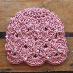 Pearl Adorned Fan crocheted hat Newborn and Ready by TinaBoBeanies, 20.00